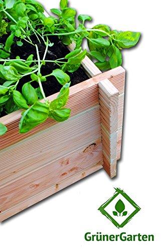 Grunergarten Premium Bio Hochbeet Aus Blockbohlen Douglasie