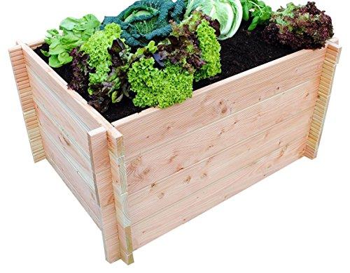 gr nergarten premium bio hochbeet aus blockbohlen. Black Bedroom Furniture Sets. Home Design Ideas