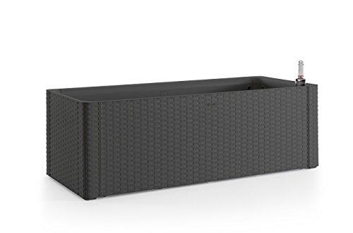 xl hochbeet pflanzkasten im rattan design aus kunststoff. Black Bedroom Furniture Sets. Home Design Ideas